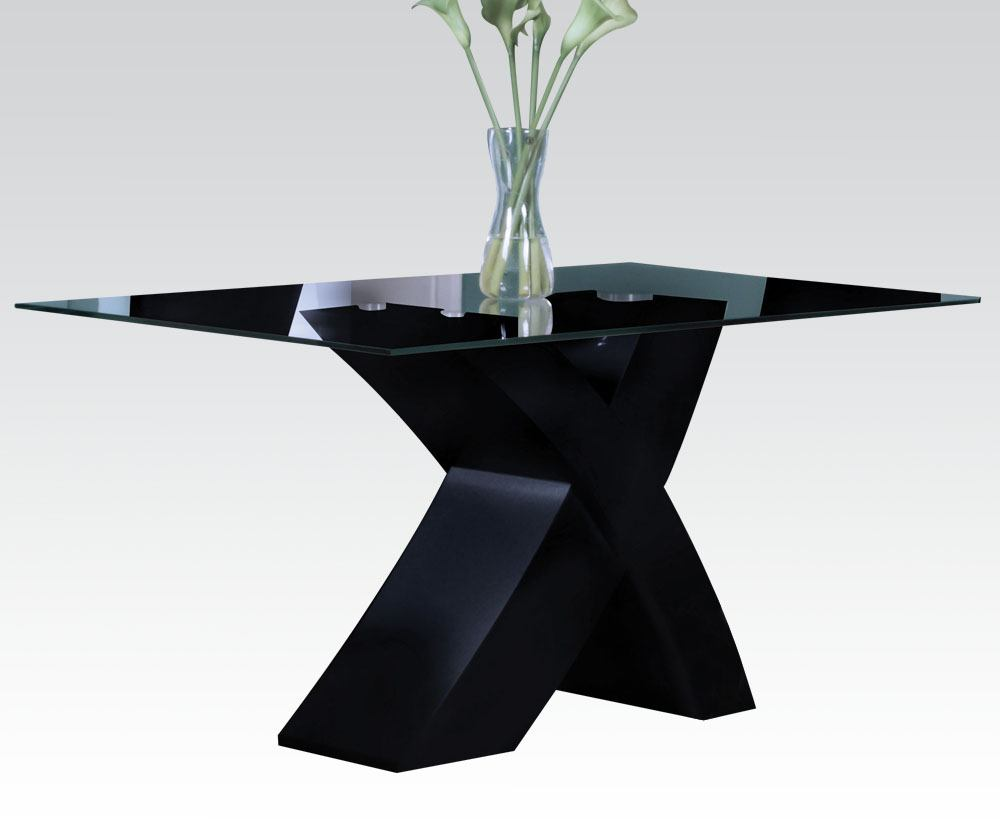 Acme Pervis Modern Dining Table in Black 71110