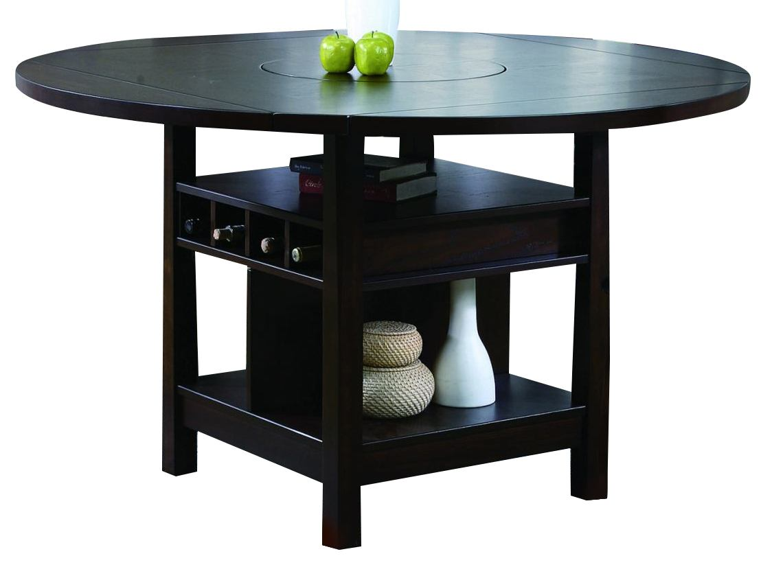 crown mark conner counter height table in espresso 2849t6060