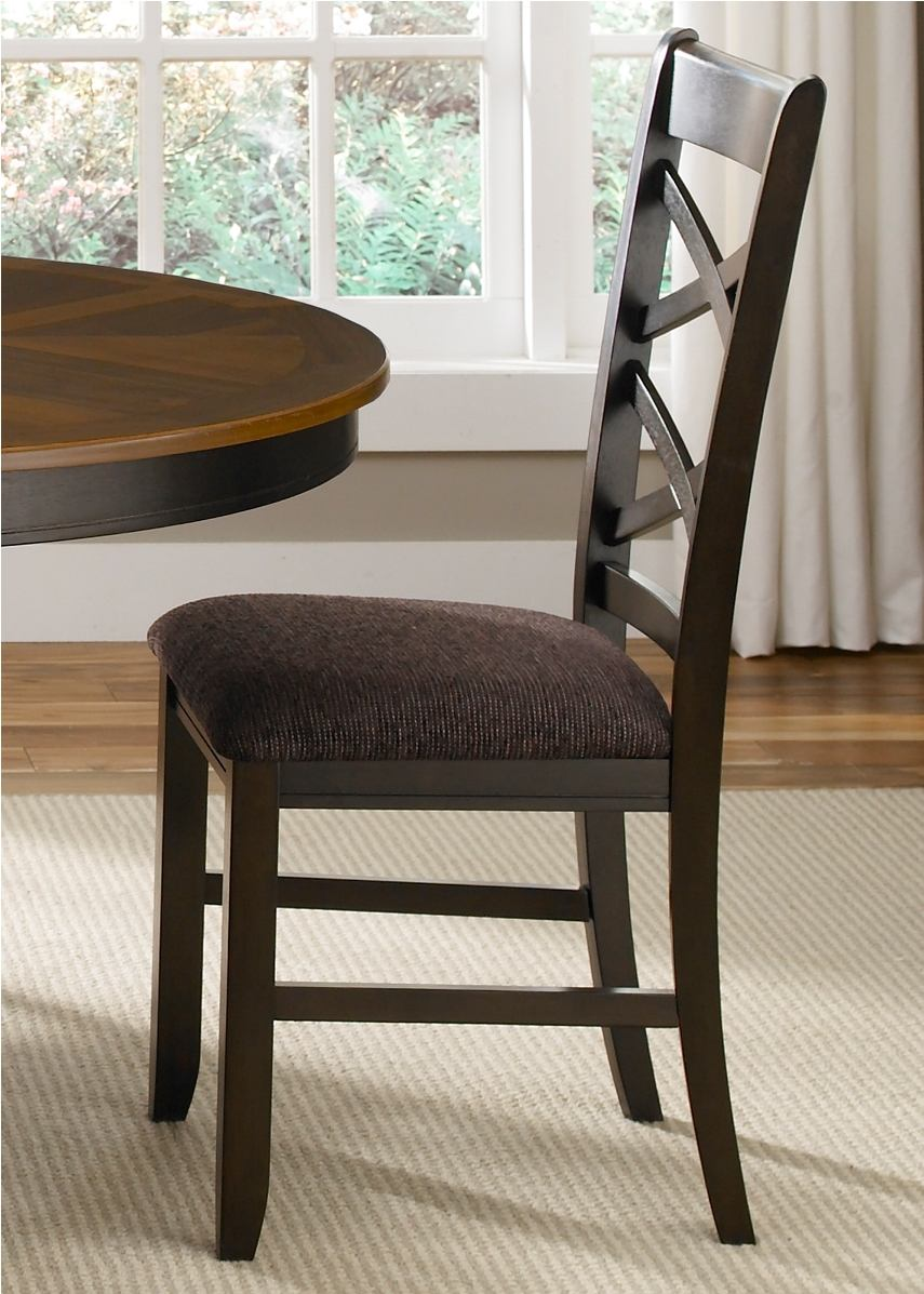 Liberty Furniture Bistro Double X-Back Side Chair (Set of 2) in Honey/Espresso 74-C3001S