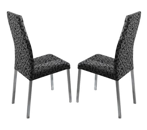 ESF Furniture Patry Chair in Black (Set of 2)