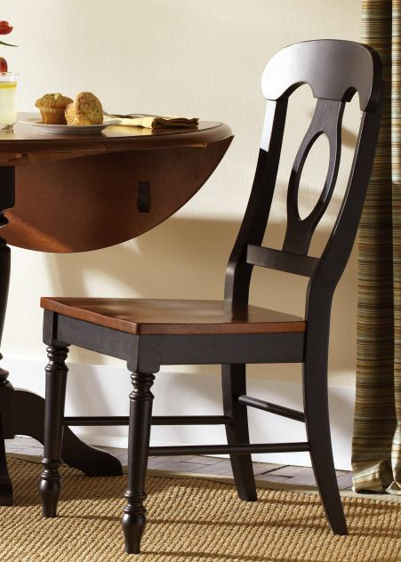 Liberty Furniture Low Country Napoleon Back Side Chair (RTA) in Anchor Black with Suntan Bronze Finish 80-C5500S (Set of 2)