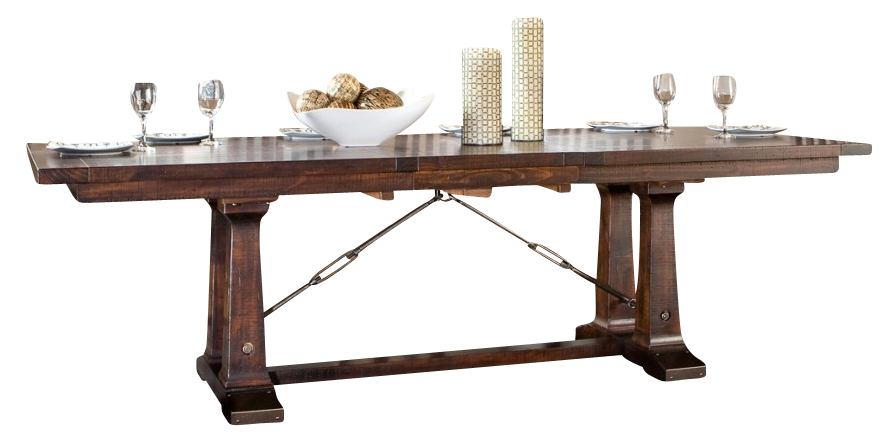Intercon Furniture Hayden Trestle Dining Table in Rough Sawn/ Espresso
