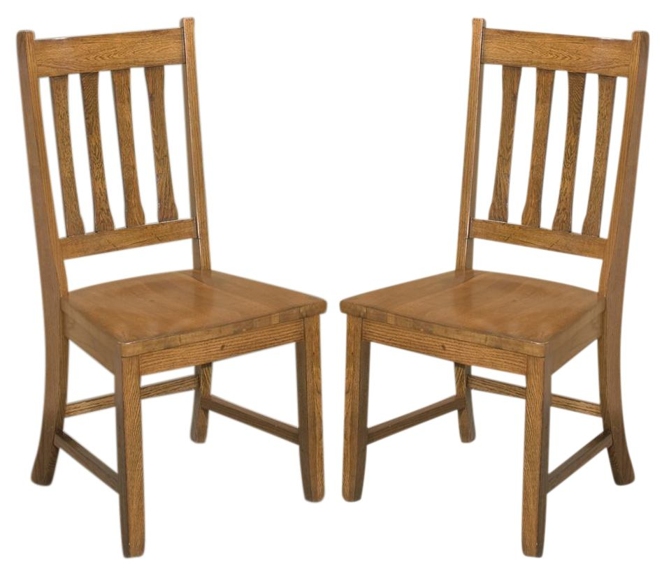 Intercon Furniture Mission Leopold Slat Back Side Chair (Set of 2) in Burnished Mission MD-CH-N850-BMI-RTA