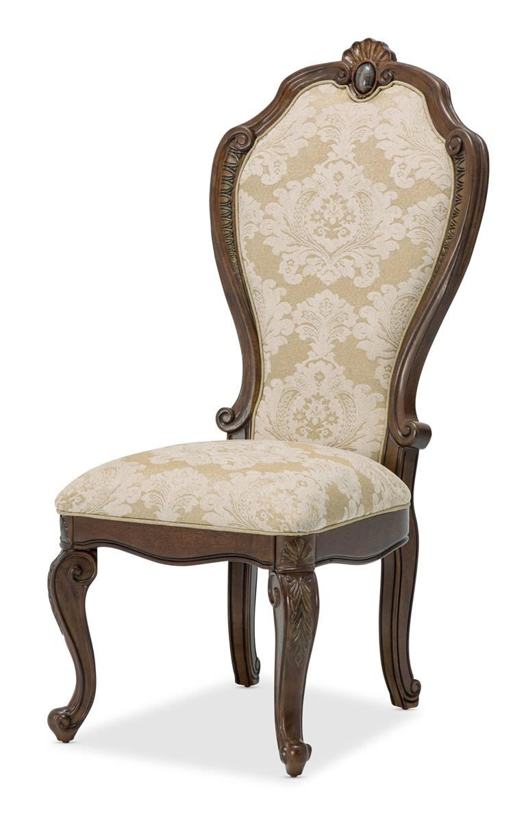Aico Bella Veneto Side Chair in Cognac (Set of 2) 9051003-202