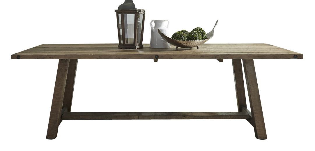 Liberty Furniture Prescott Valley Trestle Table in Antique Honey 178-T4296/178-P4296