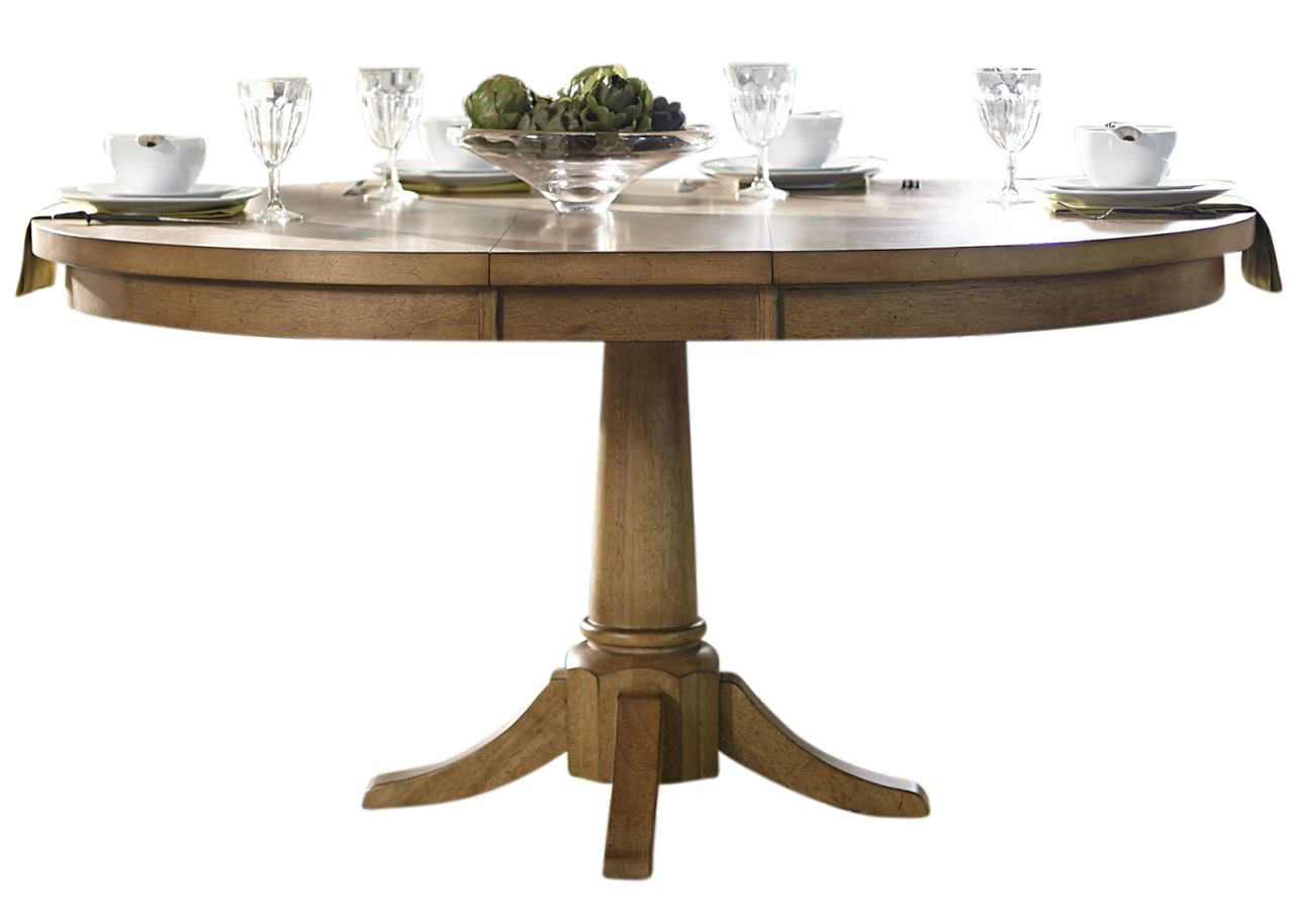 Liberty Furniture Candler Round Pedestal Table in Nutmeg 223-T4860