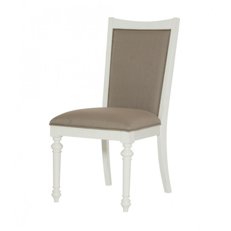 American Drew Lynn Haven Upholstered Side Chair in Dover White (Set of 2) 416-622