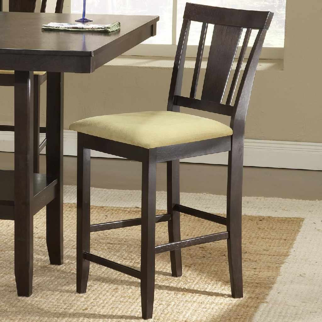 Hillsdale Arcadia Non-Swivel Counter Stool (Set of 2) in Espresso 4180-822YM