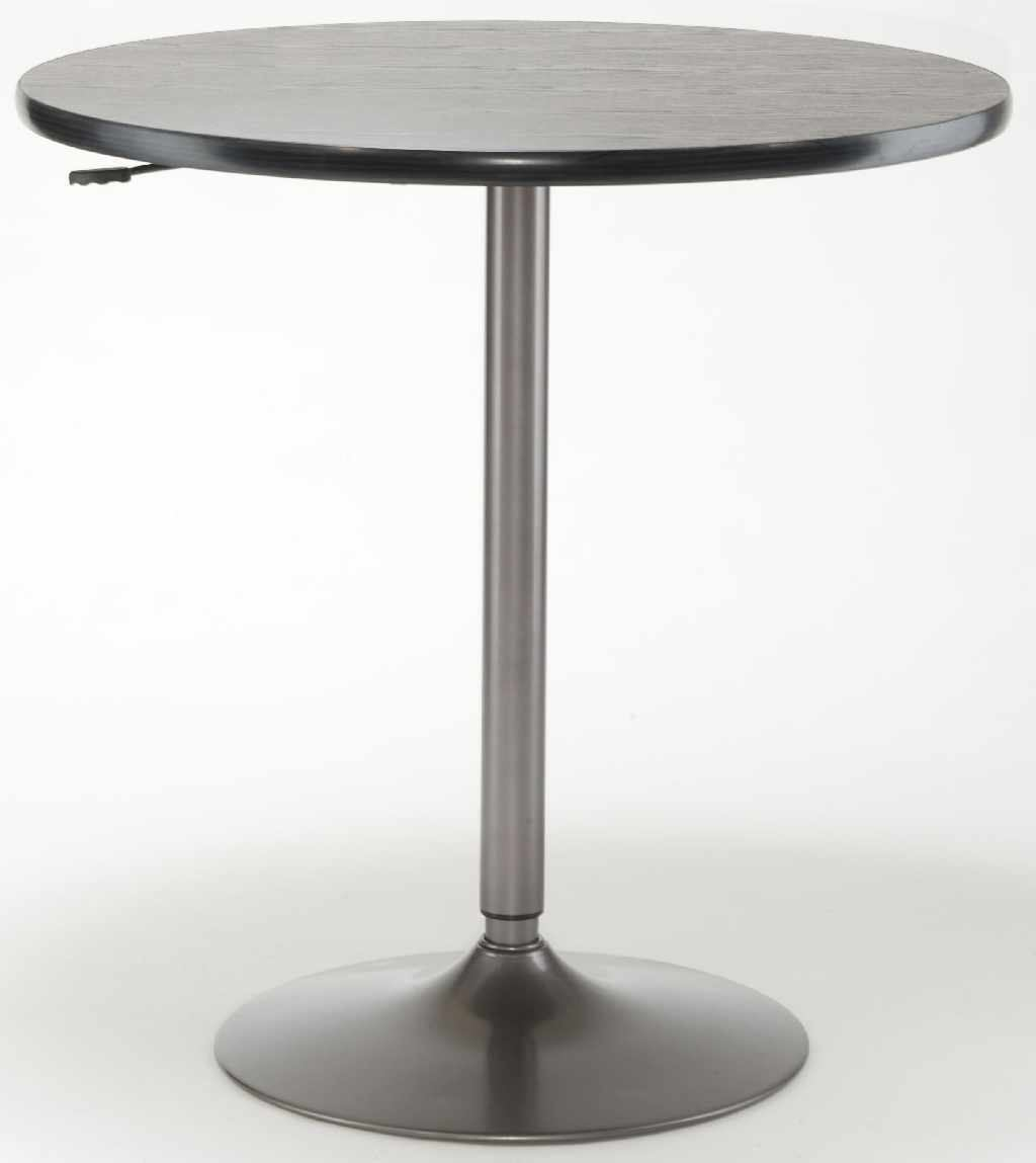 "Hillsdale Aspen Adjustable 36"" Round Bar Table in Black/Oyster Gray 4290-810/813"