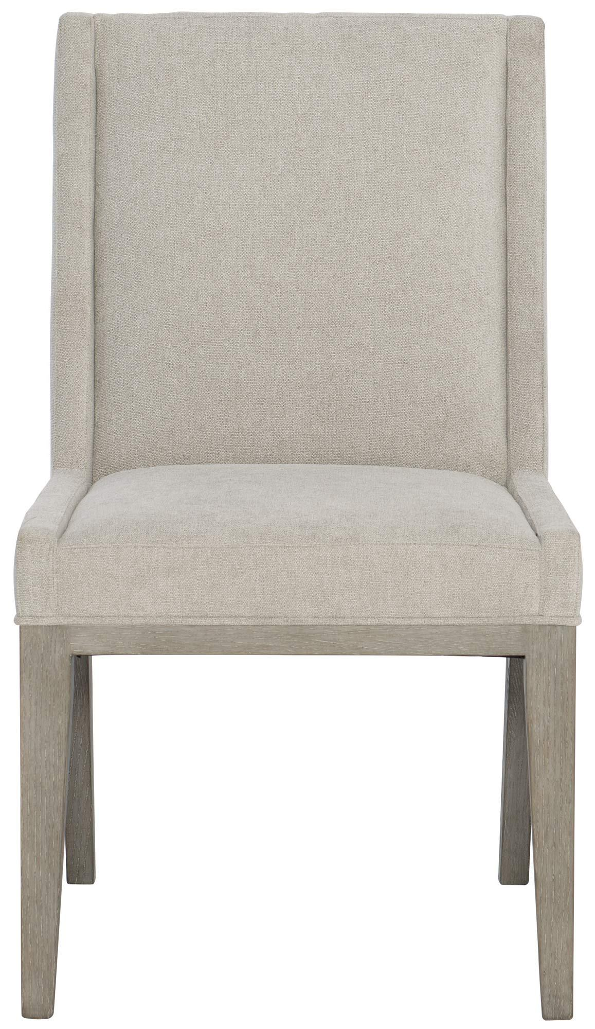 Bernhardt Linea Upholstered Side Chair in Cerused Greige (Set of 2)