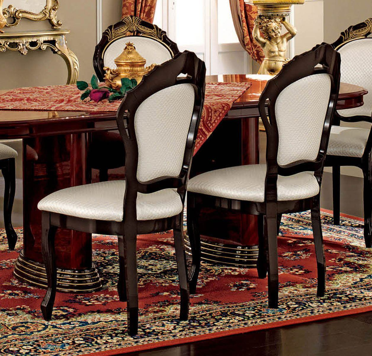 ESF Furniture Luxor Side Chair in Mahogany (Set of 2)