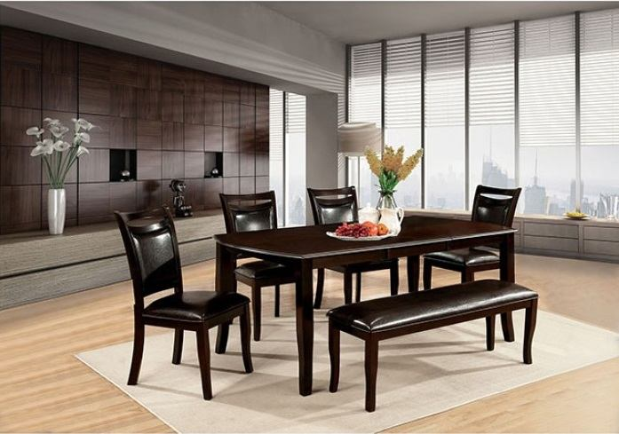 Furniture of America Woodside Dining Table in Dark Cherry CM3024T
