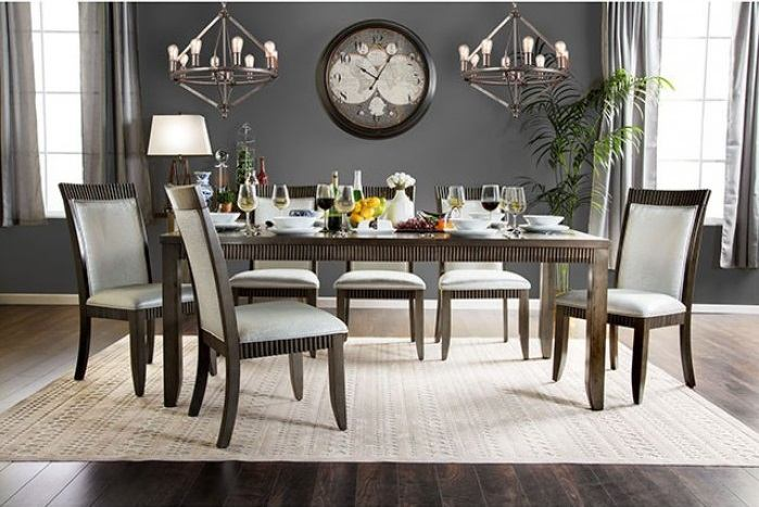 Furniture of America Forbes I Dining Table in Gray CM3435T
