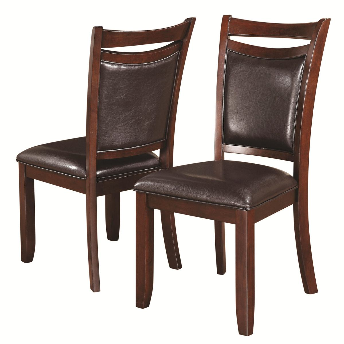 Coaster Dupree Leg Dining Side Chair in Dark Brown (Set of 2) 105472