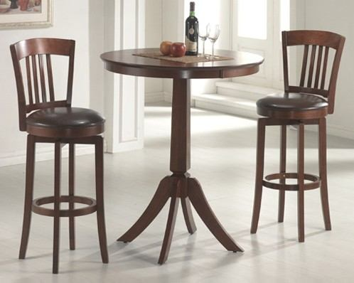 Hillsdale Plainview 3 Piece Canton Bistro Dining Set in Brown