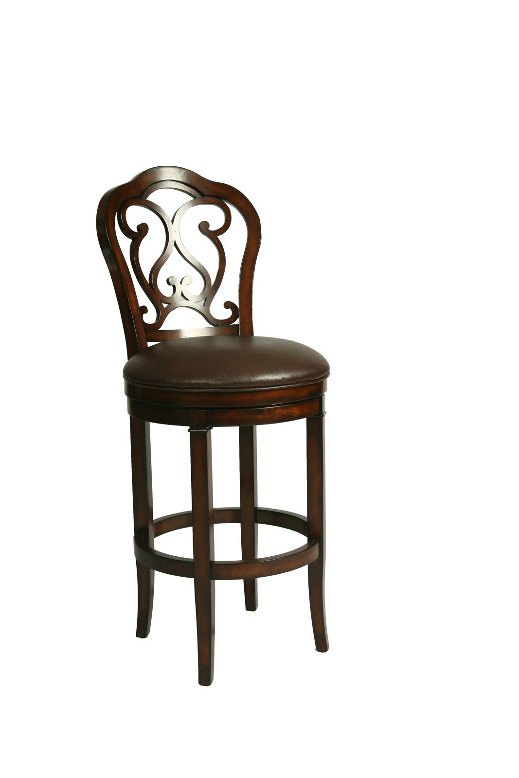Pastel Furniture Fontana Barstool in Distressed Cherry (Set of 2) FT-225-26-DC-985