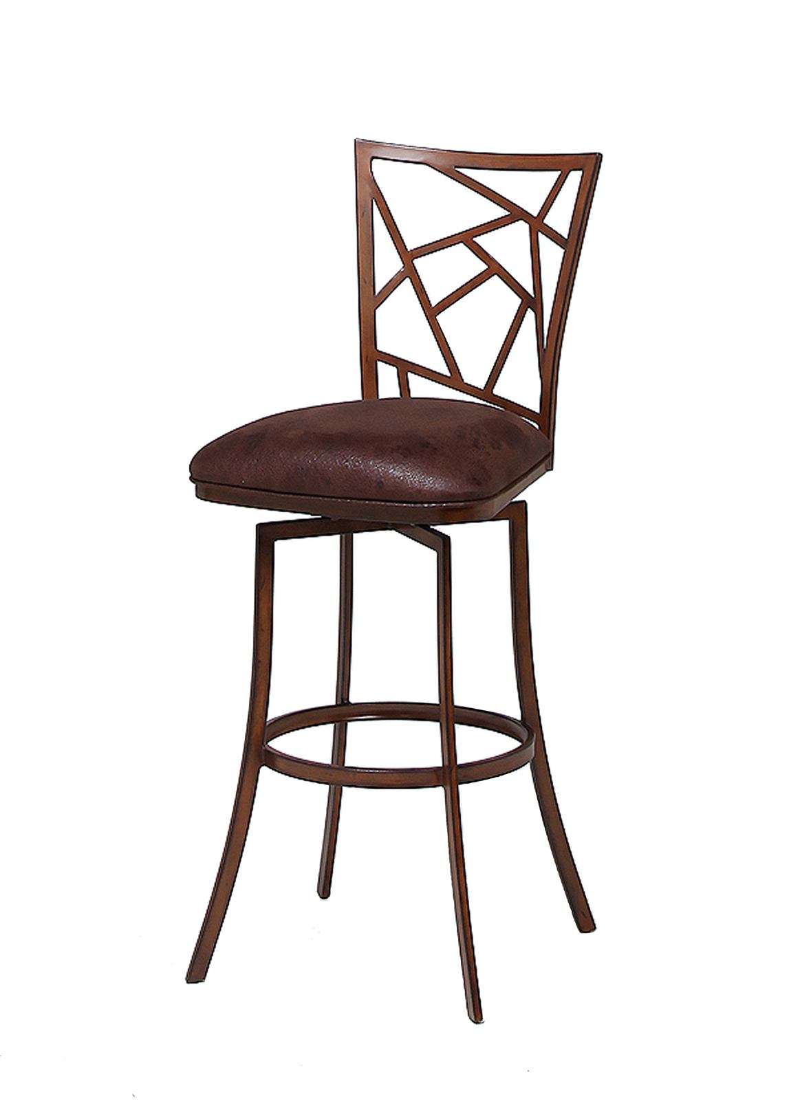 Pastel Furniture Homestead Swivel Barstool in Noyer (Set of 2) HD-219-30-EN-097