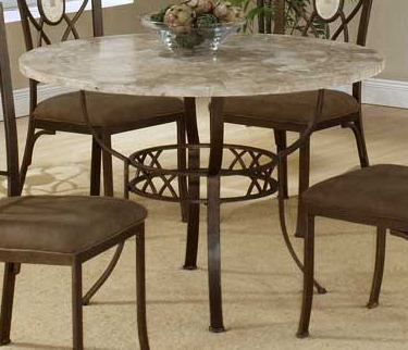 Hillsdale Brookside Round Dining Table in Brown Powder Coat 4815-810/811
