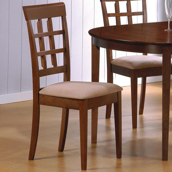 Coaster Walnut Finish Side Chair (Set of 2)