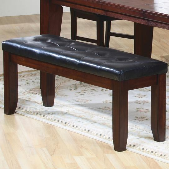 Coaster Imperial Upholstered Bench in Restic Oak 101883