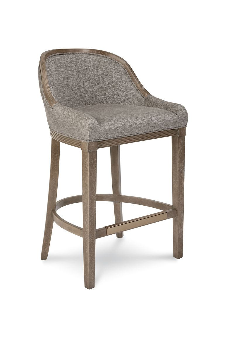 A.R.T. Cityscapes Lincoln Bar Stool (Set of 2) in Stone 232208-2323BL CLOSEOUT