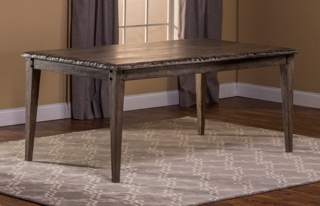 Hillsdale Furniture Lorient Rectangle Dining Table in Washed Charcoal Gray 5678-814
