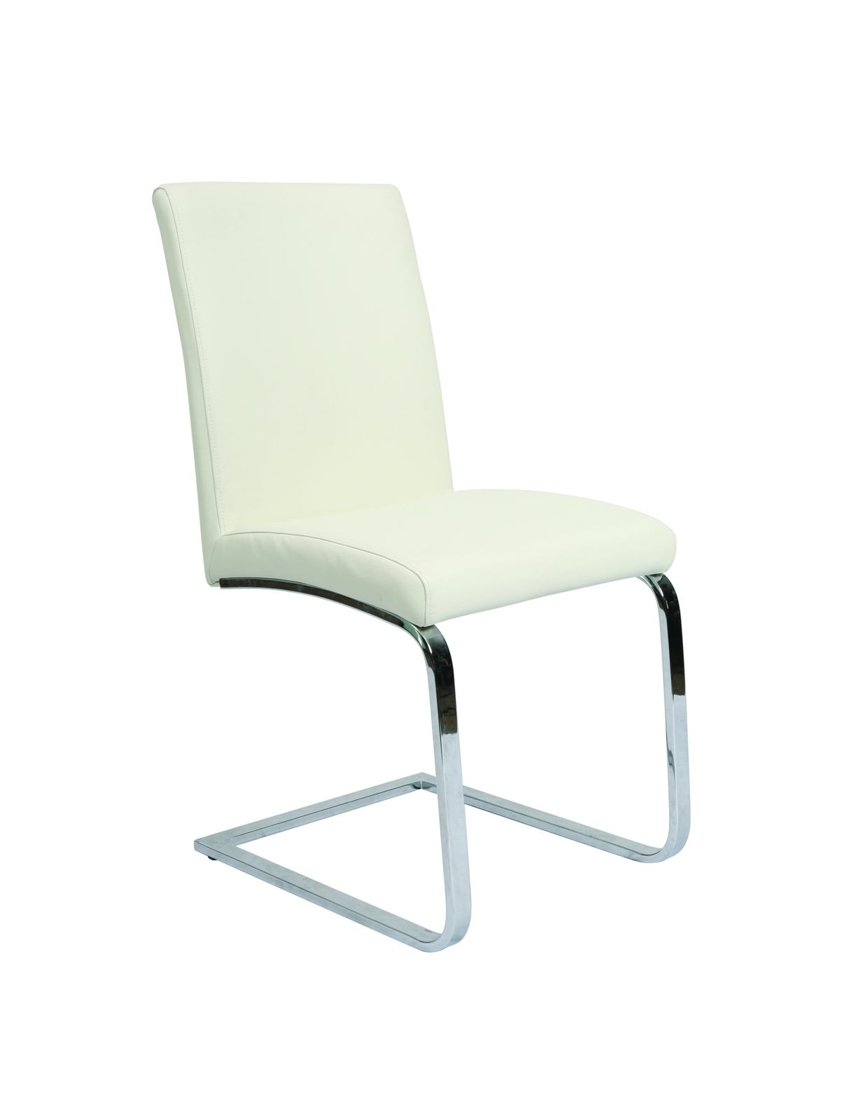 Pastel Furniture Monaco Side Chair in Chrome (Set of 2) MC-110-CH-978