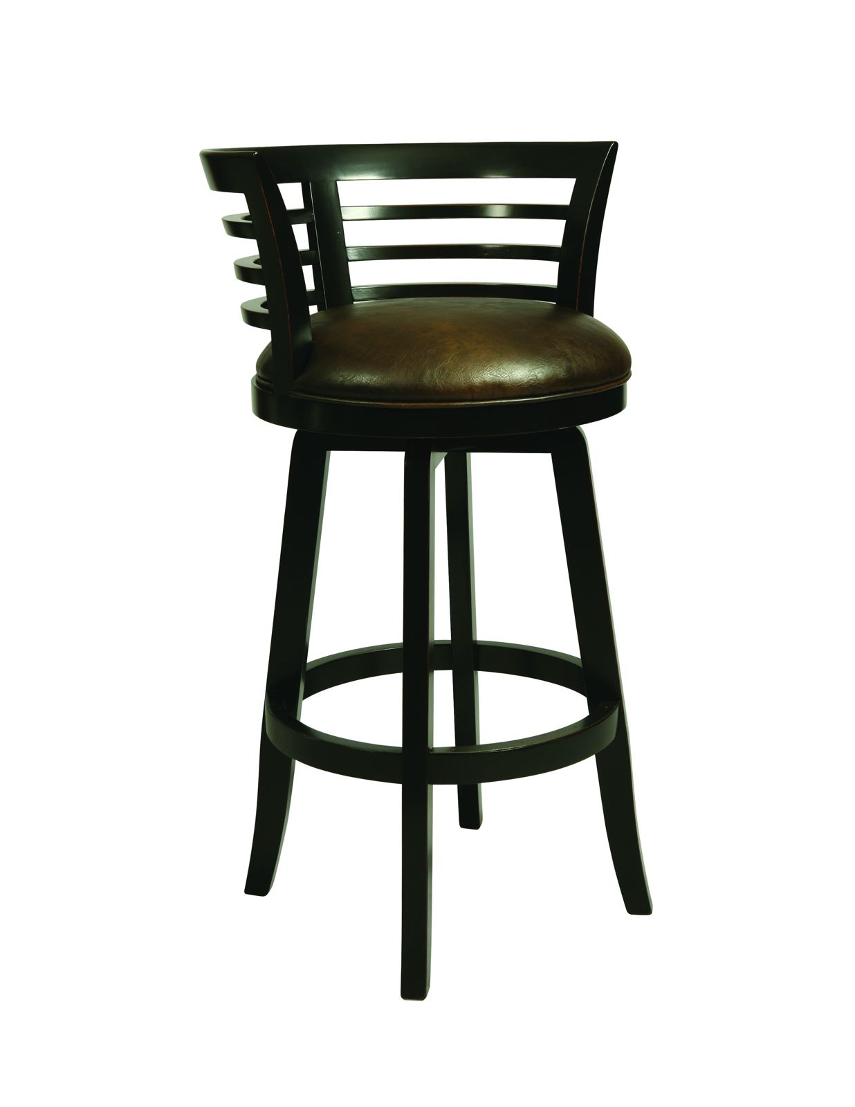 Pastel Furniture Ortona Swivel Wood Barstool in Weather Black (Set of 2) OR-225-26-WB-971