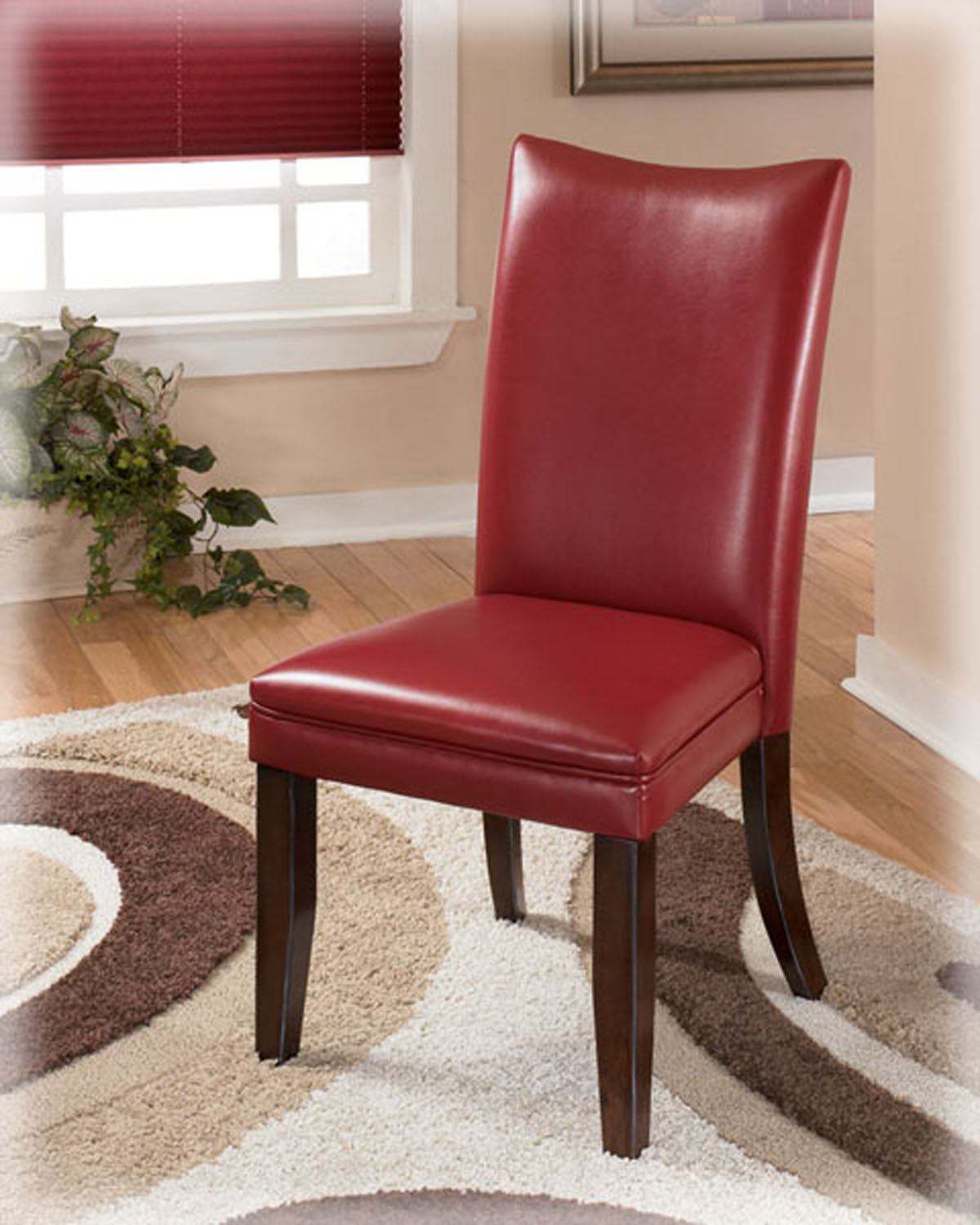 Charrell Upholstered Side Chair in Red (Set of 2)