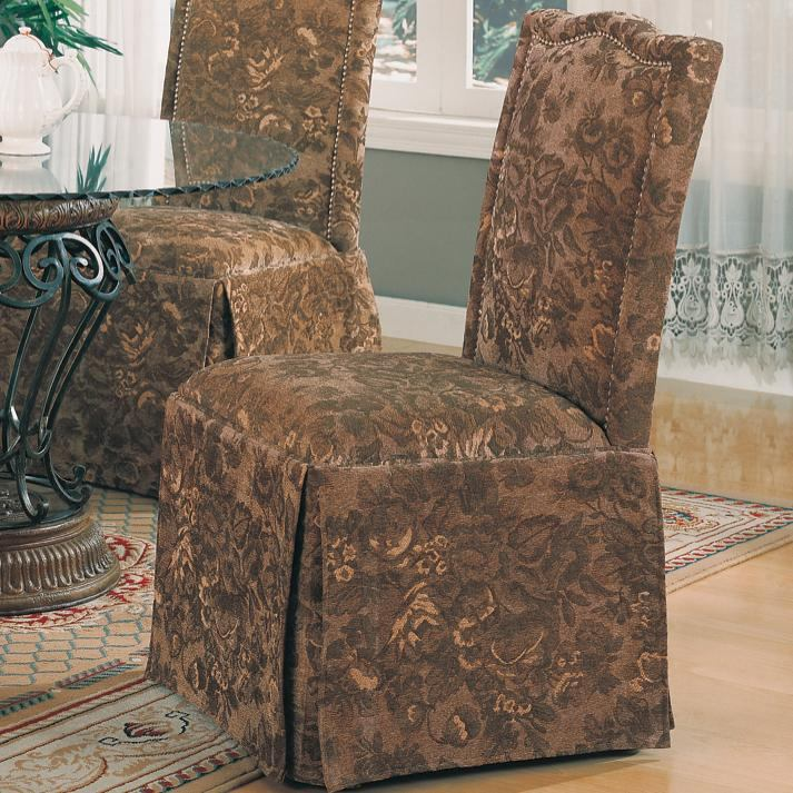 Coaster Slauson Parson Chair in Brown (Set of 2) 190072