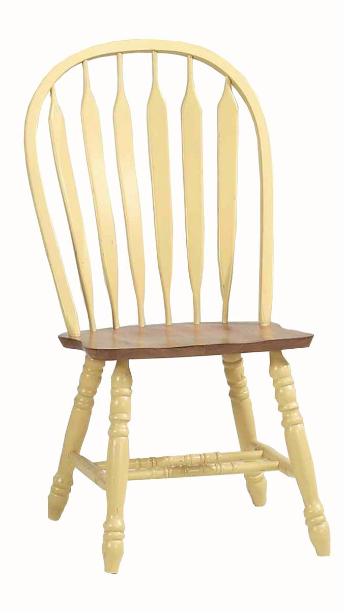 ECI Furniture Bow Back Side Chair in Yellow and Rustic 2190-14-S (Set of 2)