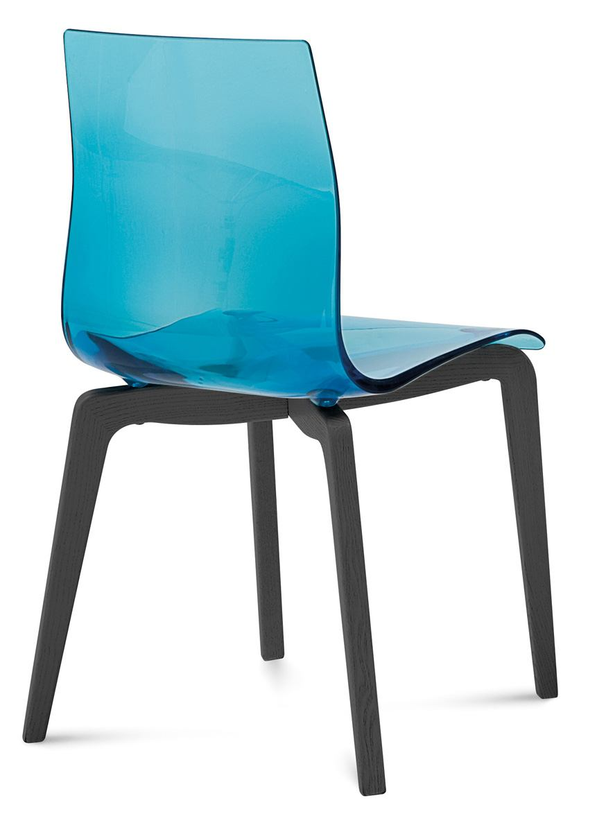 Domitalia Gel Chair in Blue and Anthracite GEL.S.LSF.LAS.SAZ (Set of 2)