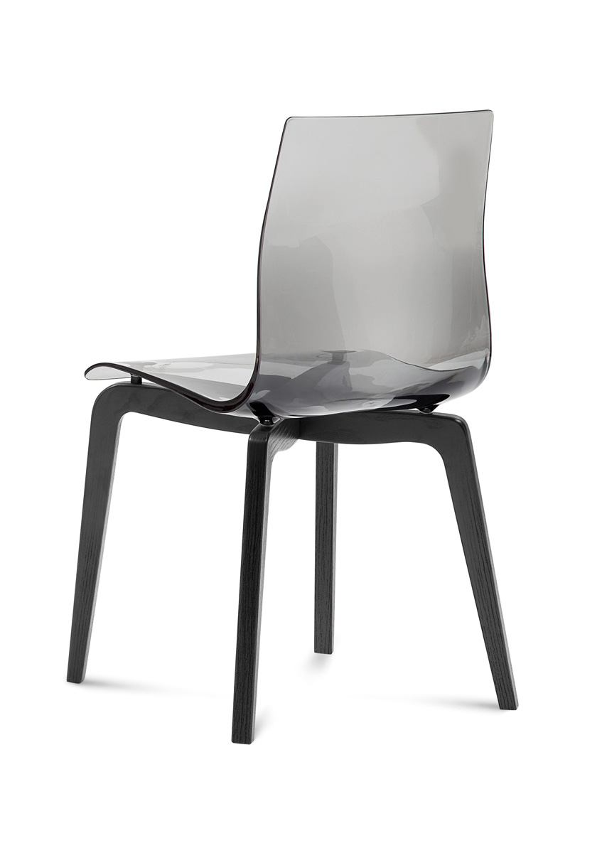 Domitalia Gel Chair in Smoke and Anthracite GEL.S.LSF.LAS.SFU (Set of 2)