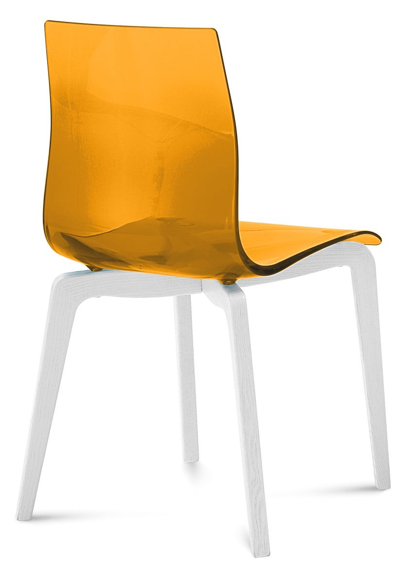 Domitalia Gel Chair in Orange and White GEL.S.LSF.LBOS.SAR (Set of 2)