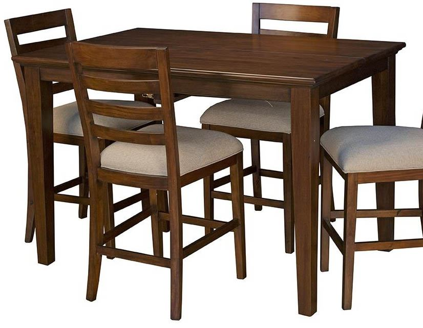 "A-America Westlake 54"" Square Gathering Height Table in Cherry Brown WSLCB6750"