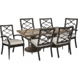 A.R.T Morrissey Outdoor 7pc Neo Rectangular Dining Set in Ash/Charcoal