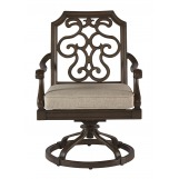 A.R.T Arch Salvage Outdoor Gabrielle Swivel Dining Rocker in Tobacco 933556-4224 (Set of 2)