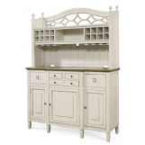 Universal Furniture Summer Hill China with Hutch in Cotton 987670C