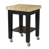 John Thomas Furniture Home Accents Kitchen Island in Black WC19-2424