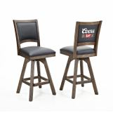 ECI Furniture Coors Banquet Armless Barstool in Antique Walnut (Set of 2)