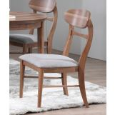 ECI Furniture Mid Modern Oval Back Side Chair in Contemporary Walnut (Set of 2)