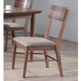 ECI Furniture Mid Modern Rectangular Back Side Chair in Contemporary Walnut (Set of 2)