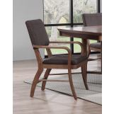 ECI Furniture Mid Modern Padded Back Arm Chair in Contemporary Walnut (Set of 2)
