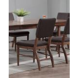 ECI Furniture Mid Modern Padded Back Side Chair in Contemporary Walnut (Set of 2)