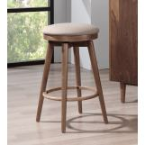 "ECI Furniture Mid Modern 30"" Backless Bar Stool in Contemporary Walnut (Set of 2)"