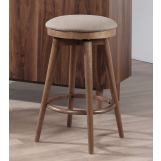 "ECI Furniture Mid Modern 24"" Backless Counter Stool in Contemporary Walnut (Set of 2)"
