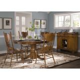 Liberty Furniture Nostalgia 5pc Casual Dining Room in Medium Oak Finish 10-CD