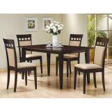Coaster Rich Cappuccino Casual Dining Set