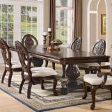 Coaster Tabitha Double Pedestal Dining Table in Cherry