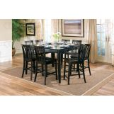 Coaster Pines 9pc Counter Height Dining Set in Black 101038BLKS
